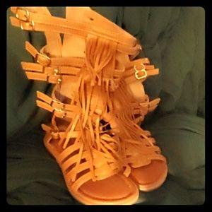 Little girls size 1 gladiator sandals